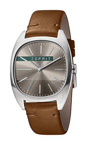 Esprit Hommes Analogique Quartz Montre avec Bracelet en Cuir ES1G038L0045