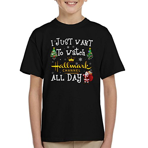 Hallmark Channel-filme (I Just Want to Watch The Hallmark Channel Christmas Kid's T-Shirt)