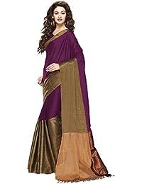 Indian Fashionista women's Banarasi Silk Saree with unstiched Blouse Piece