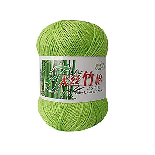 FeiliandaJJ 50g Wolle Zum Stricken & Häkeln,30% Cotton + 70% Bamboo Fiber,Einfarbig Hand Strickgarn Strickwolle für Hüte Pullover Schal Decke Strickprojekt - 12 Farben (C) -