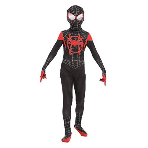 Spandex Kostüm Anpassen - Alaeo Spiderman Cosplay Kostüm Body Erwachsene Kinder Marvel Hero Spandex Overalls Halloween Maskerade Thema Party Kostüm Komplettes Set Von Kleidung,Schwarz,S(Child)