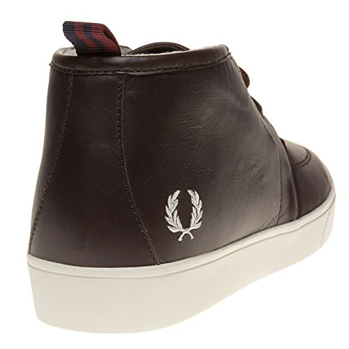 Fred Perry Shields Mid Leather Herren Sneaker Braun Braun