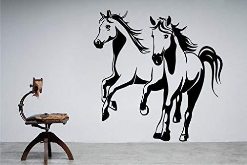 jiuyaomai Vinyl Wandaufkleber Büro Wanddekoration Abziehbild Pferd Wandaufkleber Abnehmbare Aufkleber 42X43 cm (Minion Malen Gesicht)