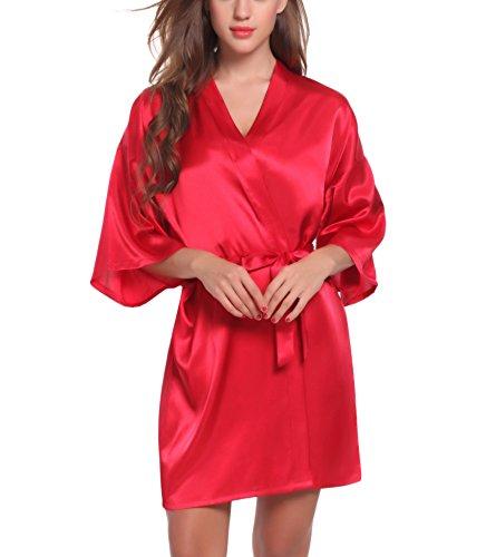 Adorneve - Chemise de nuit - Femme rouge bordeaux