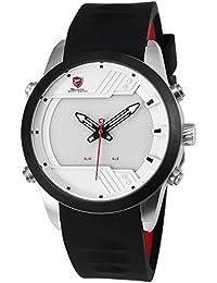 Shark SH541 Reloj Hombre Analógico Cuarzo Digital Día Fecha Alarma de Silicona