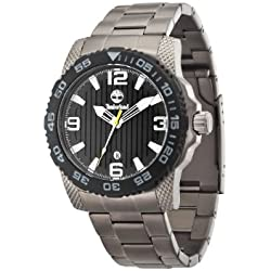Timberland Men's Quartz Watch with Black Dial Analogue Display and Grey Stainless Steel Bracelet TBL.13613JSUB/02M
