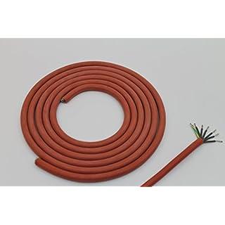 Doubleyou Geovlies & Baustoffe 5m Silikonkabel SIHF-J 7 x 1,5 mm² für Elektrosaunaöfen Sauna Saunakabel