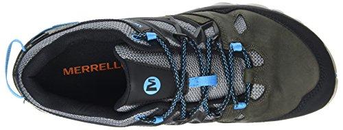 Merrell All Out Blaze 2 Gtx, Chaussures de Randonnée Basses Homme Gris (Turbulence/cyan)