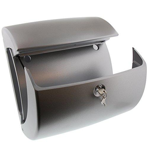BURG-WÄCHTER, Briefkasten, Edles Design, A4 Einwurf-Format, Innenbeleuchtung, Kunststoff, Kiel 886 Si, Silber - 3