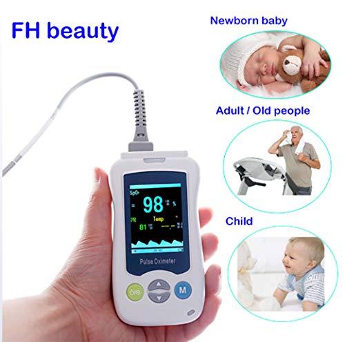 Handheld-pulsoximeter (Huaaag Medizinisch Tragbare Handheld-Pulsoximeter Für Erwachsene Neugeborene Neonatale Kinder Mini-Oximeter Hand Klemme Oximeter)