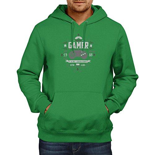TEXLAB The Mega Gamer - Herren Kapuzenpullover, Größe S, grün Wonderboy-shirts