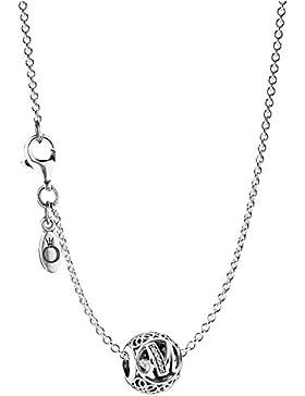Pandora Halskette mit Buchstabe M 35479