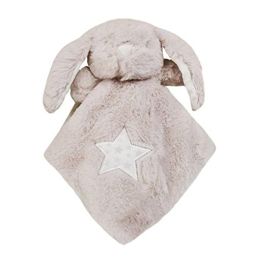 Woneart Baby Sicherheitsdecken Doudou et Compagnie Trösterchen Stoffhäschen mit Taschentuch Einhorn Stofftier-Schnuffeltuch (Hase Tröster, 26x23cm)