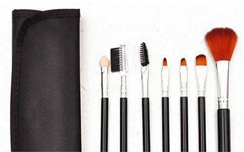 Scrox Maquillage Pro 7 pcs Brosses Set Eyeliner Fard À Paupières Lèvres Poudre Fondation Brosse