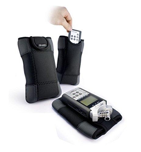 TUFF LUV E-Glove Neoprene Sleeve custodia con tasca per telecomando per Zoom H6 / H5 / H2N / H1N
