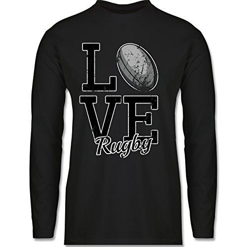 Sonstige Sportarten - Love Rugby - Longsleeve / langärmeliges T-Shirt für Herren Schwarz