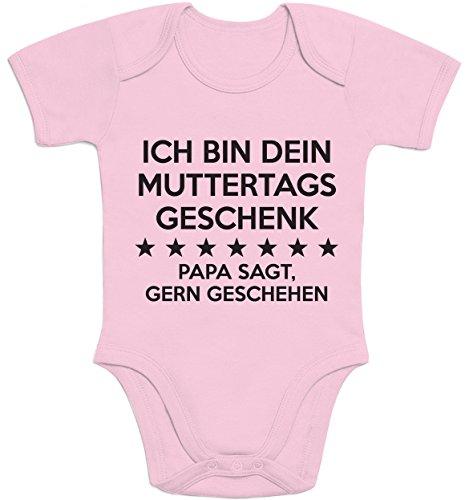 Shirtgeil Ich Bin Dein Muttertagsgeschenk Papa SAGT Gern Geschehen Baby Body Kurzarm-Body 6-12 Months Rosa