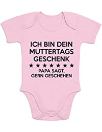 Shirtgeil Ich Bin Dein Muttertagsgeschenk Papa Sagt Gern Geschehen Baby Body Kurzarm-Body
