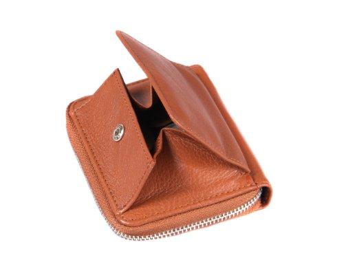 SAGEBROWN Zip Around Wallet Tan mv3uqKO