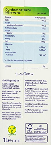Alpro Soya Kokusnussdrink, 8er Pack (8 x 1 l) - 5