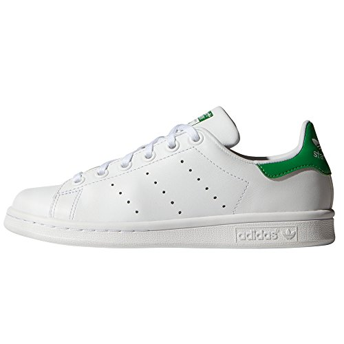Adidas Stan Smith. Scarpa Bianca Donna Ginnastica Basket, Tennis, Sneaker, White/Green