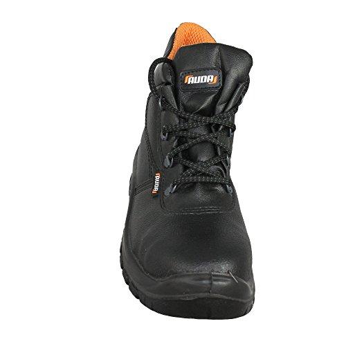 Auda Fondo S3SRC Chaussures de travail Chaussures de sécurité haut Noir Noir - Noir
