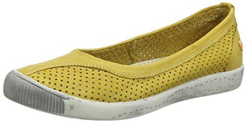 Softinos Damen Iol389sof Pumps Trainers Gelb (Yellow)