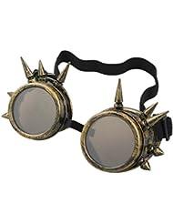 Fortan Lentes de la vendimia del remache gótico de Steampunk a prueba de viento Espejo Gafas