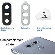 Cemobile Recambio Para Cubre Lente de la Cámara Trasera Con Adhesivo Para LG G6 H870 H871 H872 LS993 VS998 (Negro)