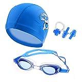 Ensemble de lunettes de natation CRIVERS - Style dessin animé - Avec bonnet de bain,...