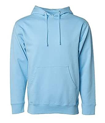WearIndia Unisex Plain Cotton Hoodies Sweatshirt for Men and Women with Kangaroo Pocket (Aqua Blue, X-Small)