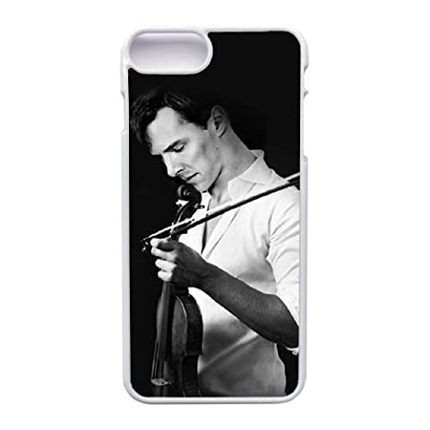 Personalized Benedict Cumberbatch Sherlock Violin Cover Hard Cas Couverture for Apple Coque iphone 7 Plus (5.5 pouce) Cell Phone blanc Shock-Absorption Bumper and Anti-Scratch TPU Hard Cas Couverture Hugh46403