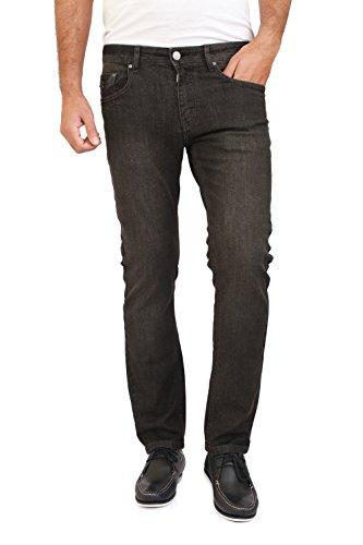 Ticket Jeans Herren Jeanshose Gr. 36W x 30L, Black (Black Tint & Sanded Wash) (Black Chocolate Jean Denim)