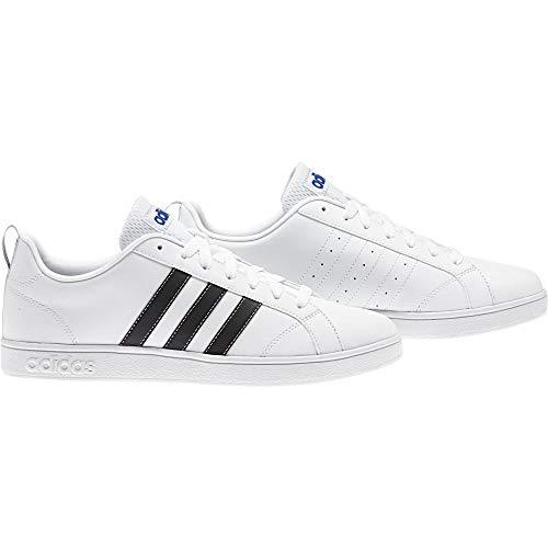 Adidas Vs Advantage, Zapatillas de Deporte para Hombre, Blanco (Ftwbla/Negbas/Azul 000), 46 2/3 EU