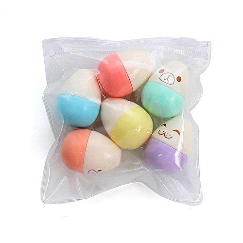 lamberthcv (6PCS/set) Highlight Marker Farbe Stifte, verschiedene Farben, Süßes Kapseln Vitamin Pille Highlight Marker Stifte für Schüler Kinder, Best für Schule Art/Geschenk Length 8cm Eggs -