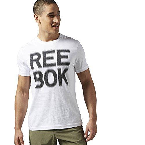 Reebok Dot Blur Tee T-Shirt Uomo - Bianco (Bianco) - M