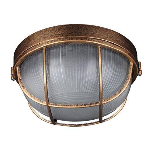 Explosionsgeschützte Lampe Tankstelle Drei Anti-Leuchten Küche Aisle Balkon Glas-Deckenleuchte Außenleuchte (größe : 19cm) - Explosionsgeschützte Leuchten