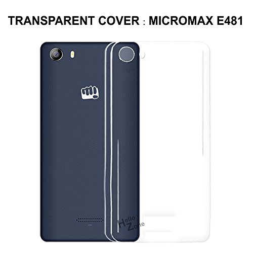 Hello Zone Exclusive Transparent Crystal Clear Case Tpu Soft Back Case Cover Back Cover For Micromax Canvas 5 E481