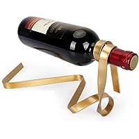 CN Inicio Elegante Color Creativo Cinta Suspensión Wine Rack Moda Personalidad Balance Bracket Novedad Regalo Decoración,Oro,1