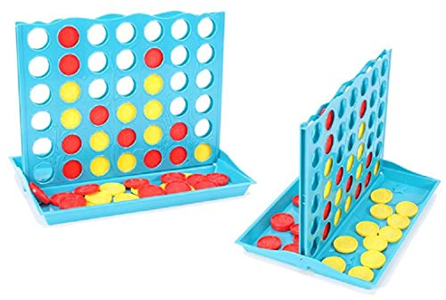Bingo Line Up 4 - Klassiker Logikspiel HUKITECH Logik Spiel Familienspiel Denkspiel für Kinder und Erwachsene Partyspiel mit hohem Spaßfaktor
