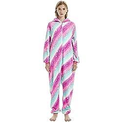 ShiyiUP Pijamas de Animales Unicornio Traje Divertido de Disfraz para Halloween Adulto S
