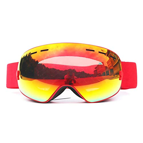 Coniea Radbrille Retro TPU+PC Radbrille Herren UV Schutz Brille Rot