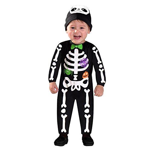 Amscan Kleine Knochen - Skelett Halloween Kostüm Kleinkind Jungen (Knochen Kleinkind Kostüm)