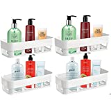 CIVILION Multipurpose ABS Plastic Strong Adhesive Kitchen & Bathroom Wall Shelf // Without Drilling // Holder Storage Rack //
