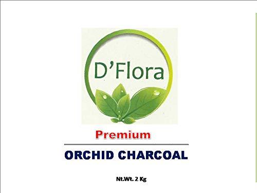 D'Flora Virgin Grade Wood Bio Charcoal for Orchid Potting 2 Kg