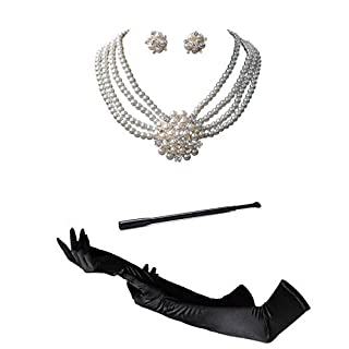 Audrey Hepburn Holly Golightly Breakfast at Tiffanys Costume Jewelry and Accessory Set