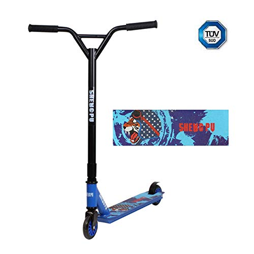 JAUTO Stunt Scooter Freestyle Tretroller - Robuster Funscooter mit ABEC 9 Kugellagern, Kickscooter, Roller