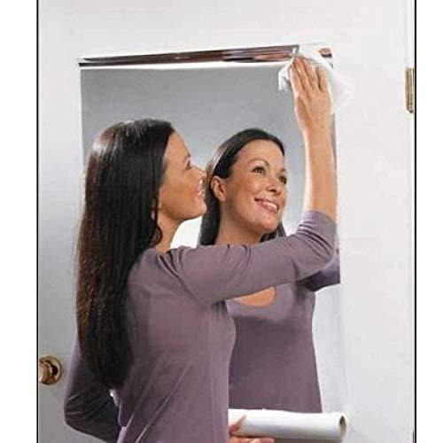 1 Stk Spiegelfolie Wandaufkleber Selbstklebende Spiegel Folie - Spiegel Wandaufkleber Rechteck selbstklebende Raum Dekor Stick auf Kunst (60 * 100cm, B) -