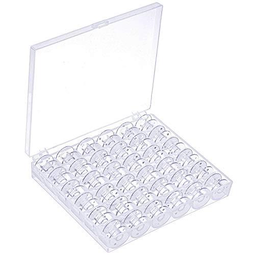 Nähmaschine Spulen, JIANZHEN 36 Stück Transparente Kunststoffspulen für Nähmaschine mit Aufbewahrungsbox für Sänger / Brother / Janome / Toyota / Babylock / Janome