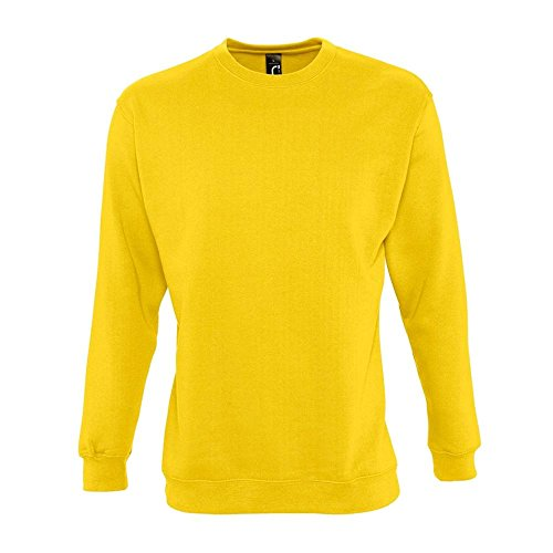 Sweat New Supreme Gris Chiné Jaune - Or